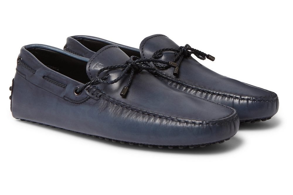 Tod's Burnished Leather Driving Shoes