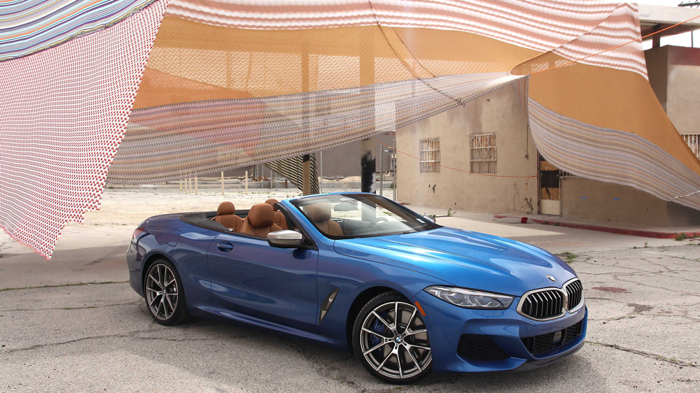 The BMW 850i xDrive Convertible.