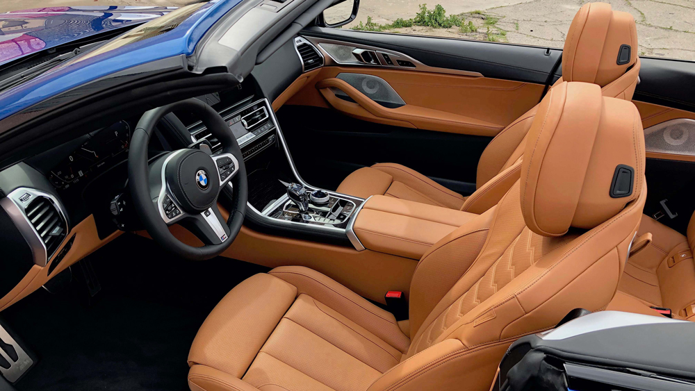 A look inside the BMW 850i GT Convertible.