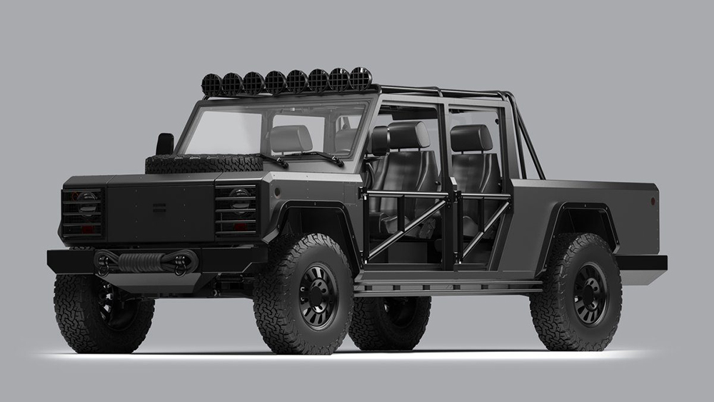 Bollinger's custom B2 pick-up truck