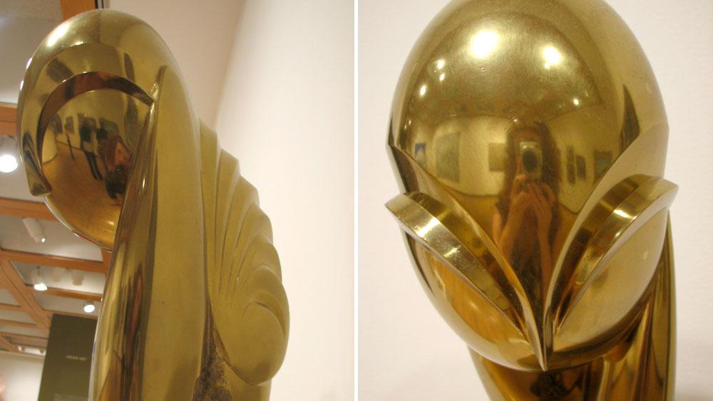 "Brancusi bronze scuplture ""Mlle. Pogany II"""