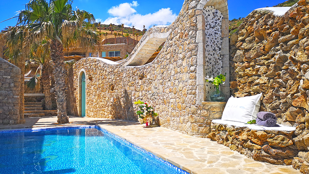 The exterior of Suite 16 in Calilo resort on the Greek Islands