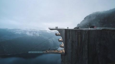 Hayri Atak Architectural Design Studio's Preikestolen cliff hotel concept