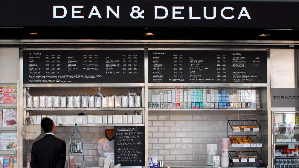 A Dean & DeLuca cafe in Tokyo