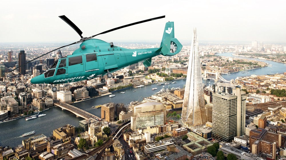 Deliveroo's Roocopter One