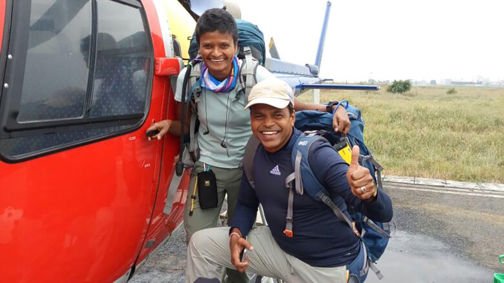 Jayanthi Kuru-Utumpala first Sri Lankan to summit Mount Everest and first first Sri Lankan woman to summit Mount Everest