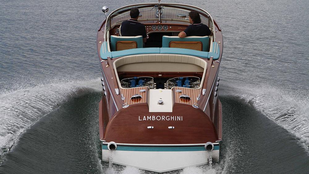 Riva Aquarama yacht Lamborghini