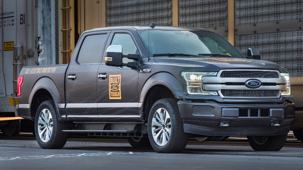 Ford's all-electric F-150 prototype