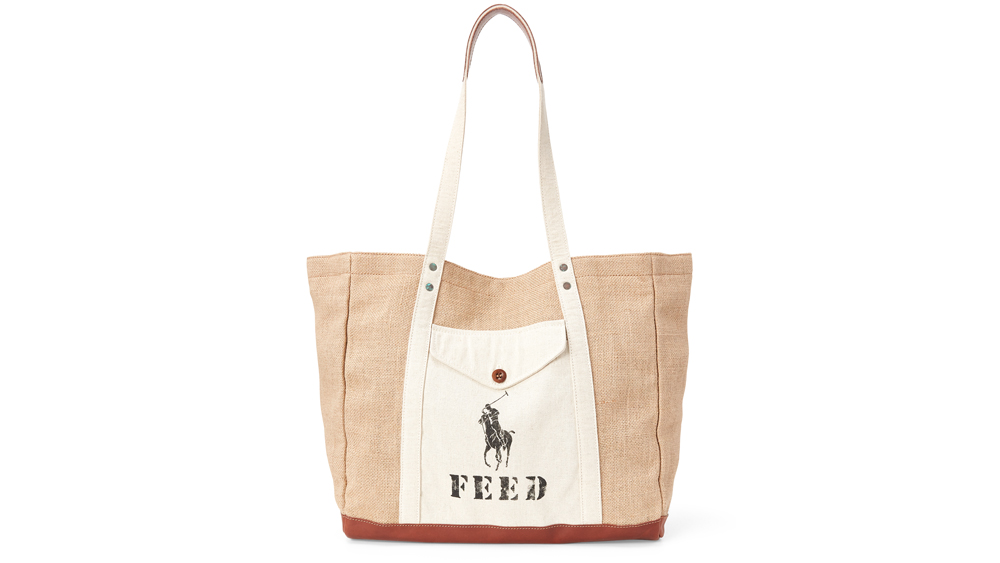 A tote bag from FEED's collaboration with Polo Ralph Lauren