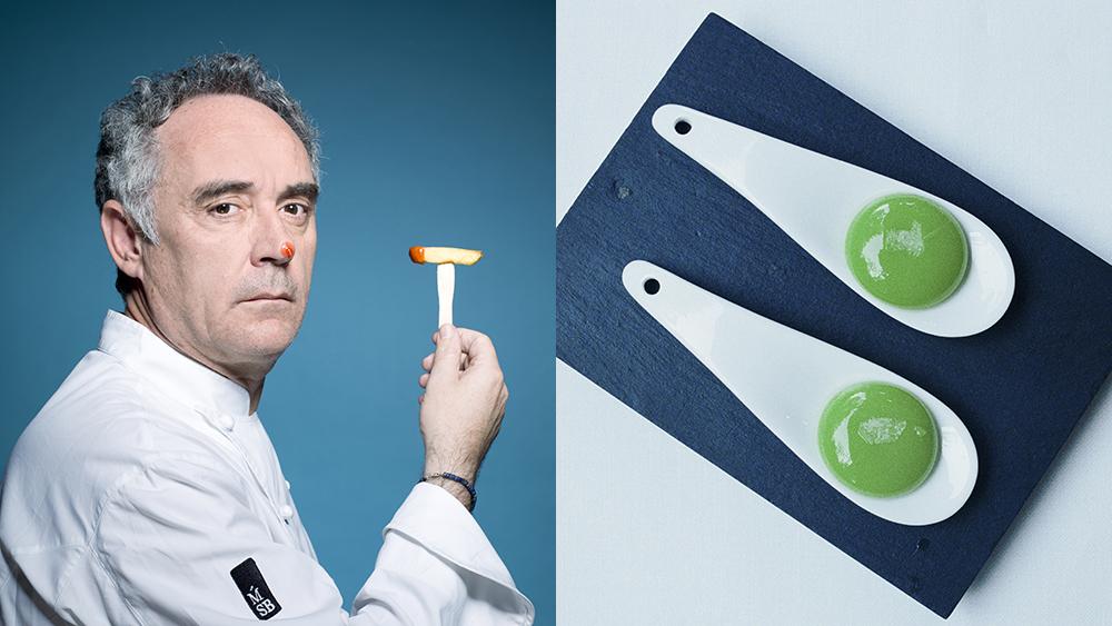 Ferran Adria Spheriphied Pea Ravioli