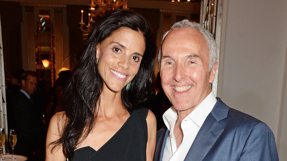 LONDON, ENGLAND - AUGUST 13: Monica Algarra (L) and Frank McCourt attend the 2014 Longines Global Championships Tour party at Claridge's Hotel on August 13, 2014 in London, England.
