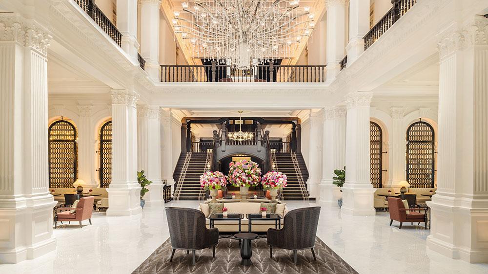 Grand lobby at Raffles