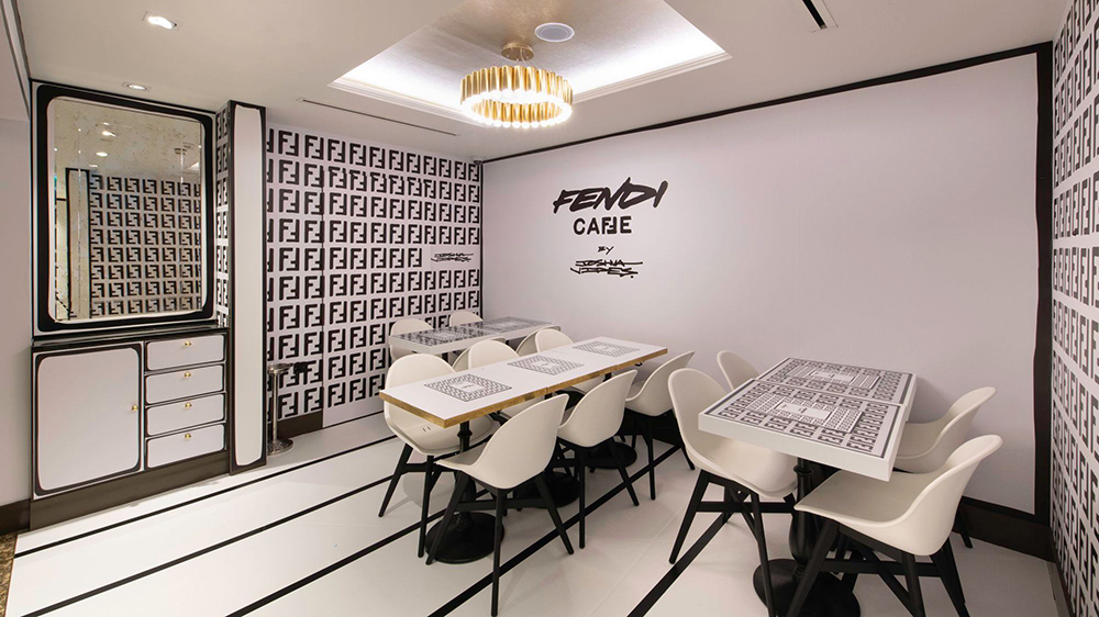 Fendi Caffe at Harrods