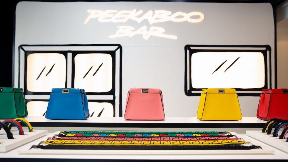 The Fendi Peekaboo Bar at Harrods