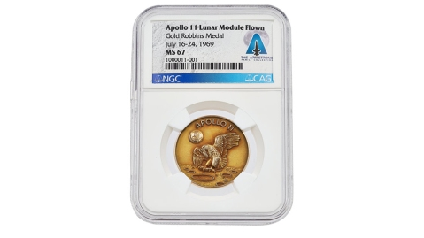 Neil Armstrong's 14K Gold Medal