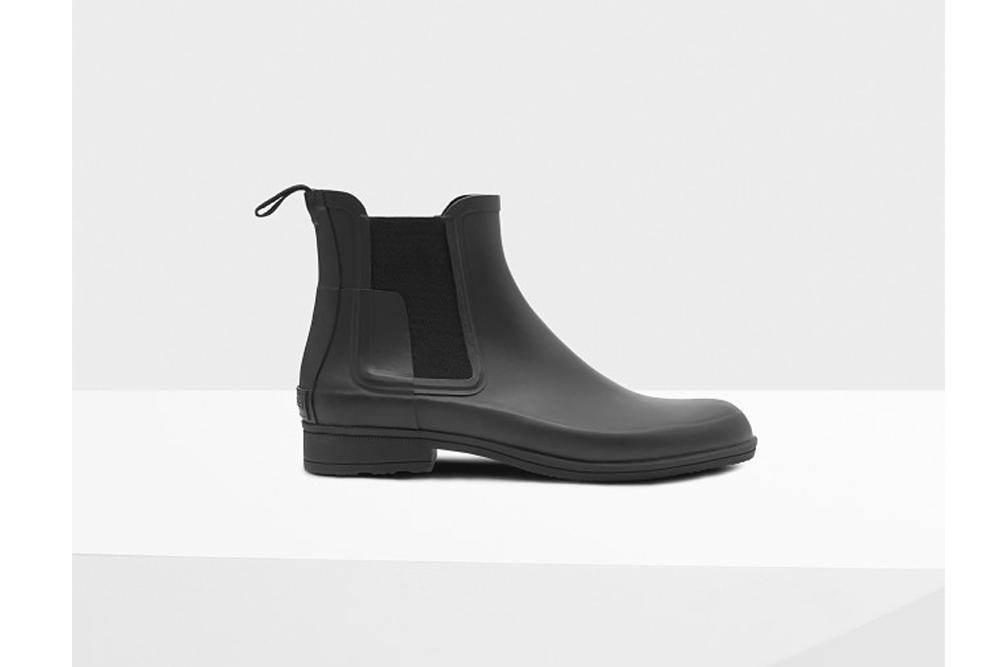 Hunter Men's Refined Slim Fit Chelsea Boots: Black