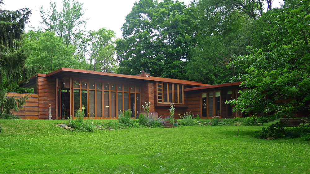 The Jacobs House in Wisconsin designed by Frank Lloyd Wright