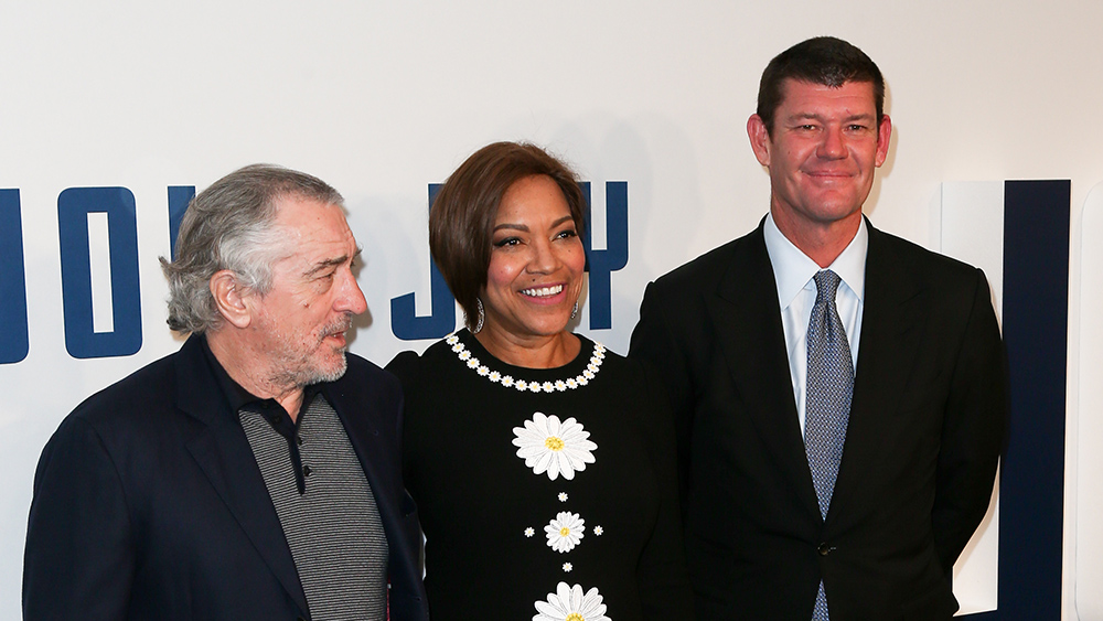 "NEW YORK-DEC 13: Actor Robert De Niro, model Grace Hightower and businessman James Packer attend the ""Joy"" premiere at the Ziegfeld Theatre on December 13, 2015 in New York City.; Shutterstock ID 351724169; Notes: James packer yacht"