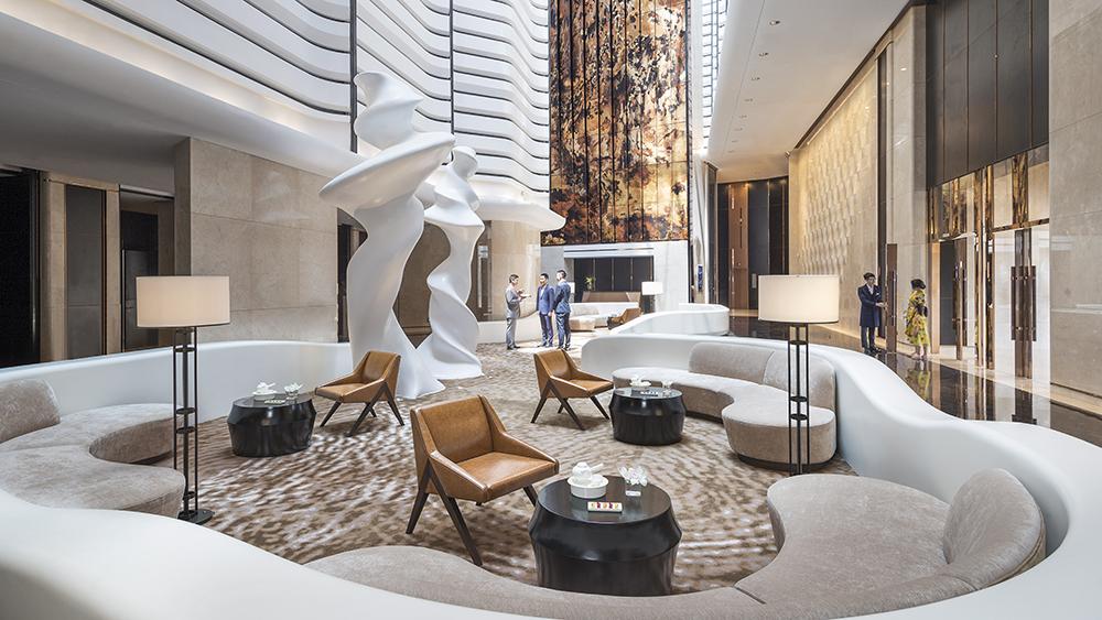The lobby at Jumeirah Nanjing in China