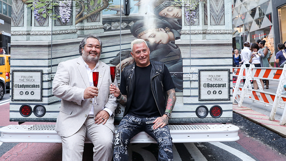 Ken Romaniszyn and Jim Shreve on the Lady M Cake Boutique and Baccarat Cake Truck