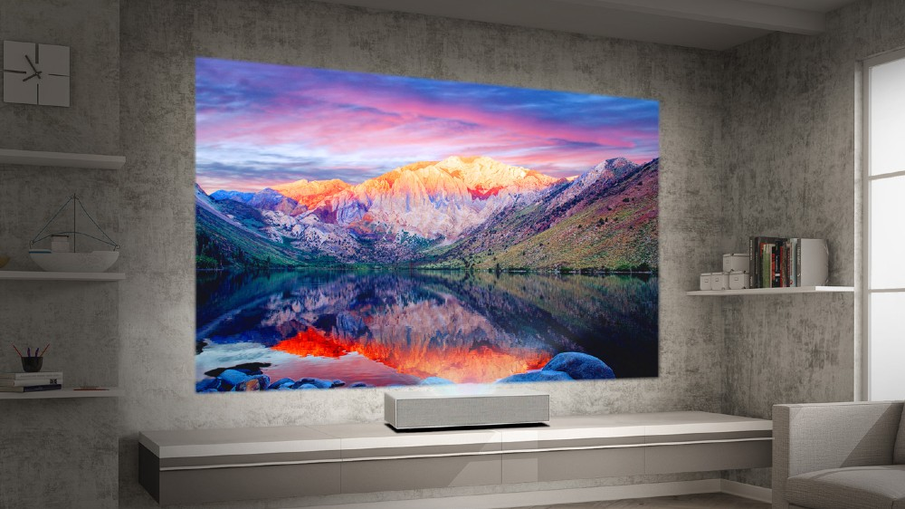 The LG HU85LA 4K UHD Laser Smart Home Theater CineBeam Projector