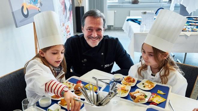 Michelin-starred chef Alexander Hermann has created a new children's menus for Lufthansa