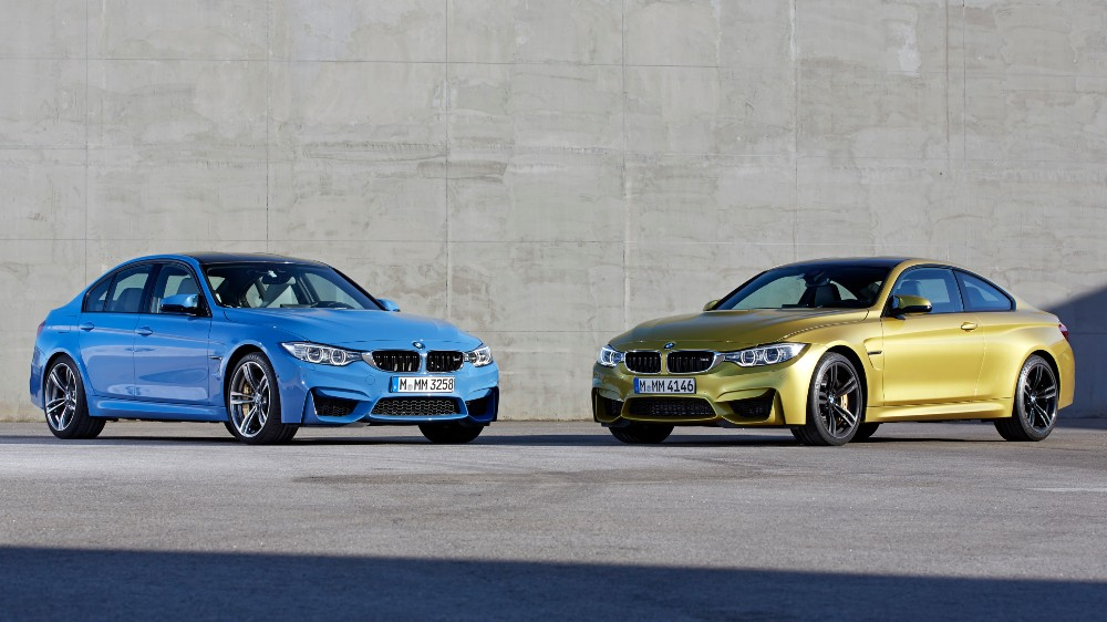 The 2014 BMW M3 sedan and M4 coupe
