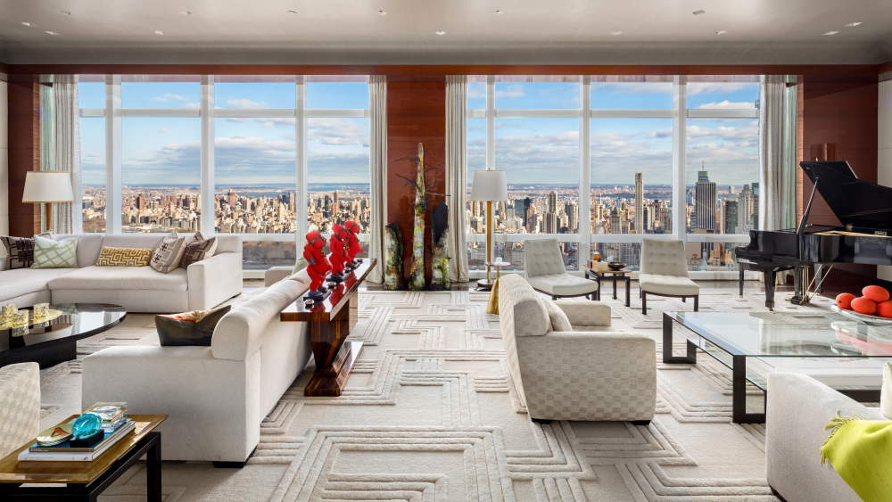 The living room at the TWC penthouse.