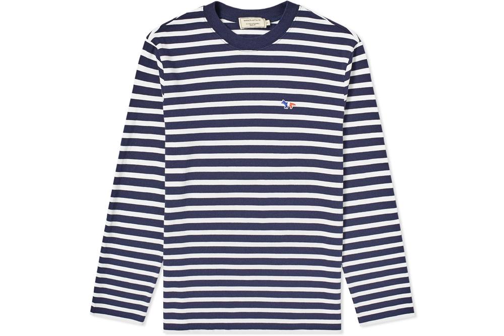Maison Kitsune Striped T-Shirt