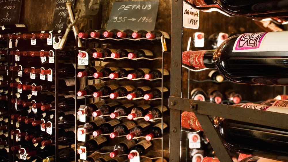 Maison Rostang's cellar