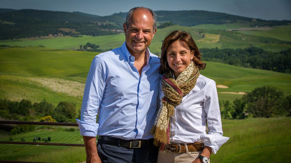 Massimo and Chiara Ferragamo, the founders of The Club at Castiglion del Bosco
