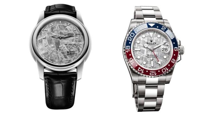 Romain Gauthier and Rolex Meteorite Watches
