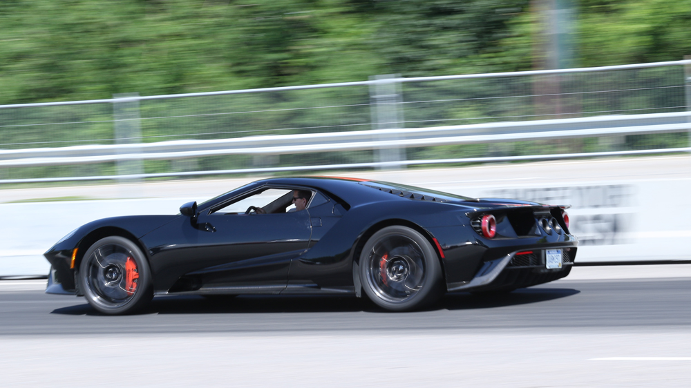 A Ford GT on a track.