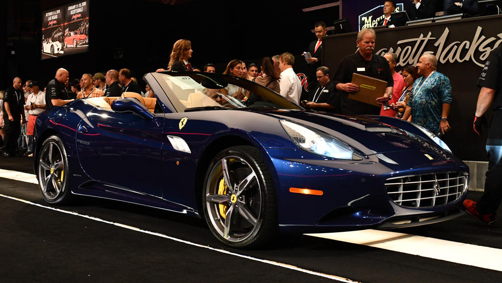 A 2014 Ferrari California Convertible.