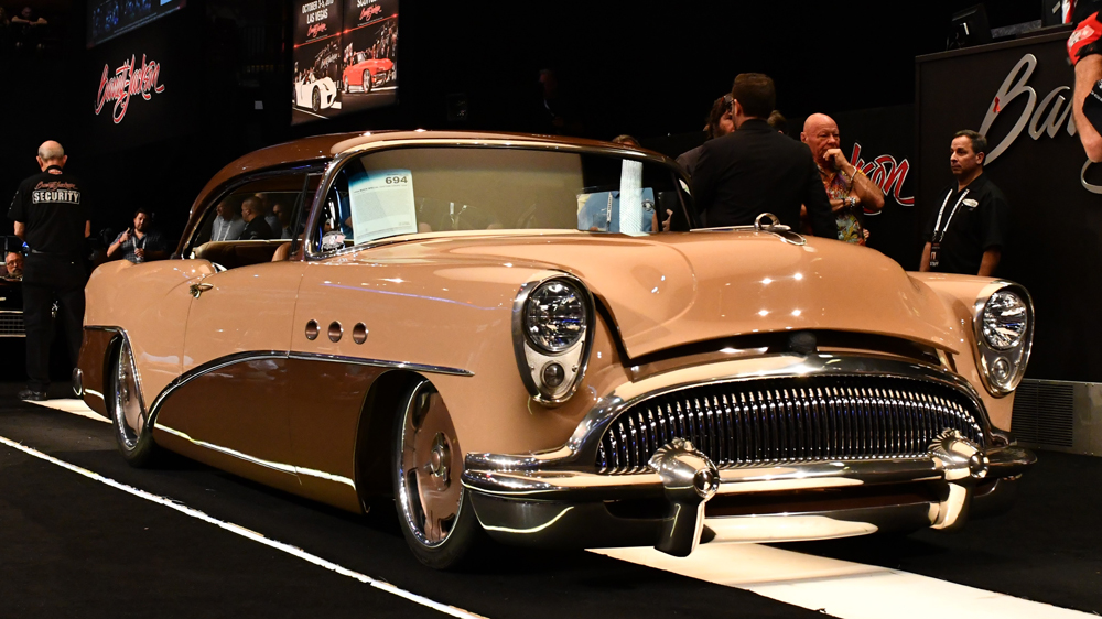 A 1954 Buick Special Custom Coupe 'G54' presented at Barrett-Jackson's Northeast 2019 auction.