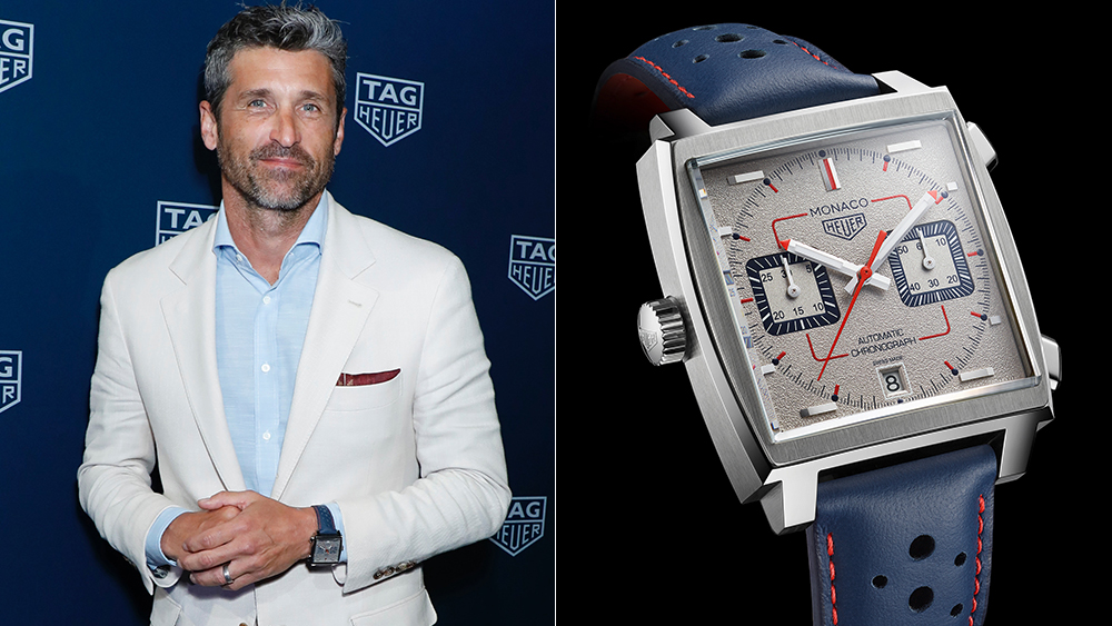 Patrick Dempsey at an event celebrating the Tag Heuer Monaco Special Edition 1989-1999 timepiece.