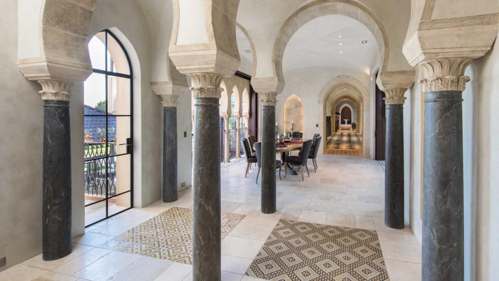 A hallway area.