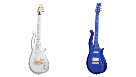 Prince's Cloud guitar in white and blue