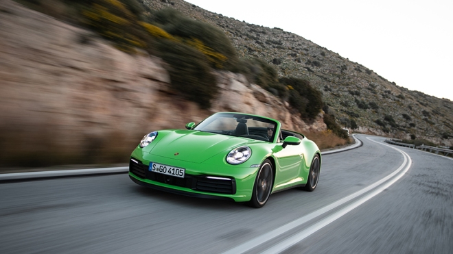 The Porsche Carrera S Cabriolet in Greece