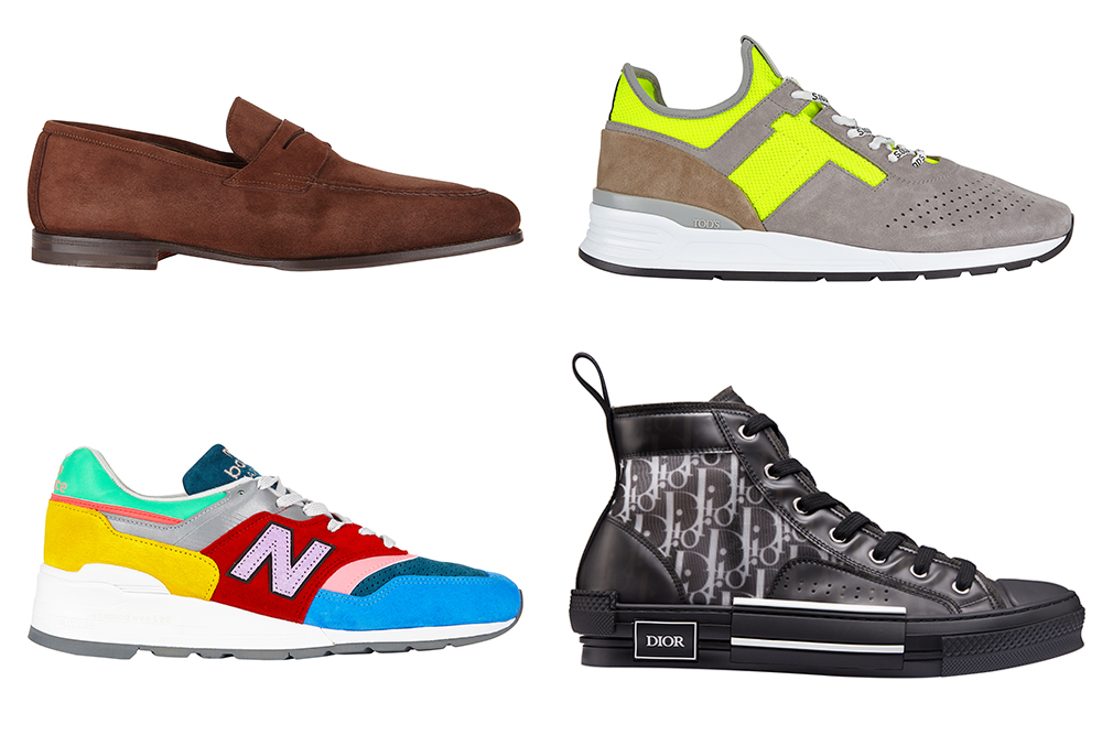 These men's shoe styles (from Santoni, Tod's, Dior and New Balance) are exclusive to Saks Fifth Avenue.