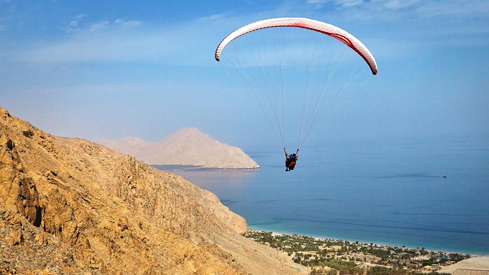 Paragliding at the Six Senses