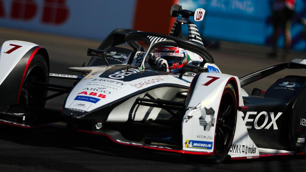 José María López behind the wheel of Geox Dragon Racing's No. 7 entry.