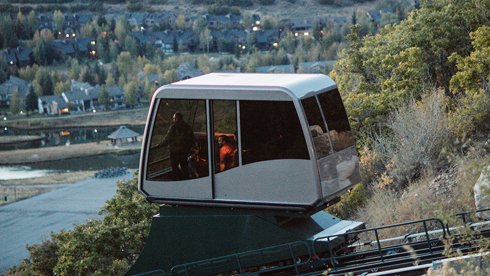 Cable car at the St Regis Funicular