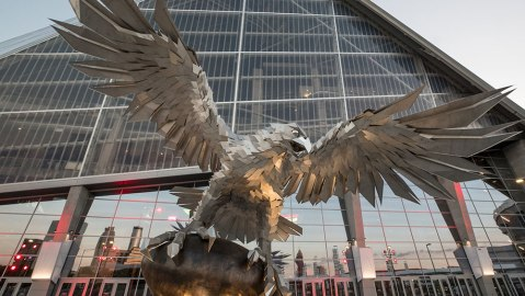 "Gábor Miklós Szőke' 'Rise Up"" at Mercedes-Benz Stadium in Atlanta"