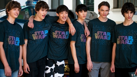 The Star Wars x Etro collaboration debuted at the brand's Spring 2020 menswear show in Milan Italy in June 2019.