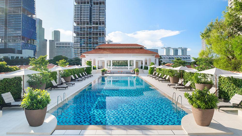 Swimming pool at Raffles