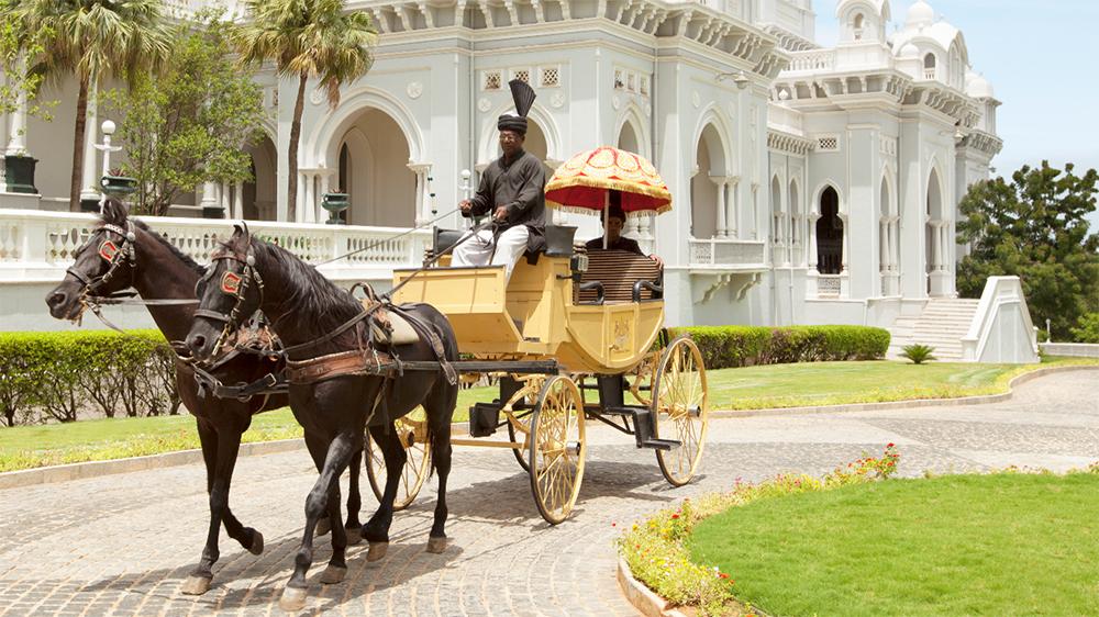Horse and carriage at the Taj Falaknuma