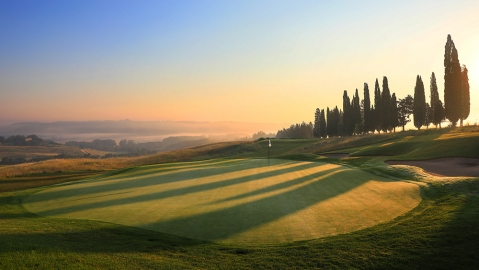 A view of the green at The-Club at Castiglion del Bosco in Tuscany