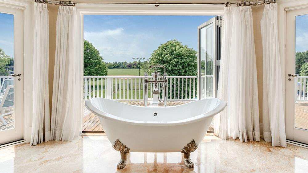A bathroom at The Sandcastle in Bridgehampton