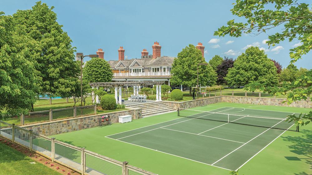 The tennis court at The Sandcastle in Bridgehampton